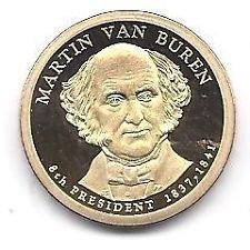 2008 S PROOF M. VAN BUREN GOLDEN DOLLAR
