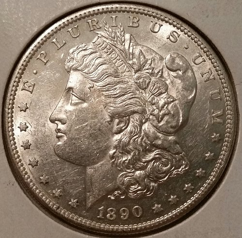 AMAZING 1890 S MORGAN SILVER DOLLAR VERY SHINY BRILLIANT UNCIRCULATED COIN!