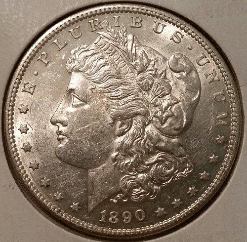 AMAZING 1890 S MORGAN SILVER DOLLAR VERY SHINY BRILLIANT UNCIRCULATED COIN!