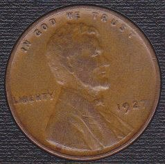 1927 P Lincoln Wheat Cent Small Cent