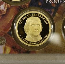 2007 S  PROOF T. JEFFERSON GOLDEN DOLLAR