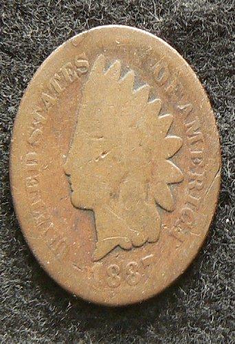 1887 P Indian Head Cent (AG)