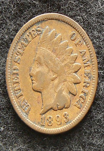 1893 P Indian Head Cent (VG-8)