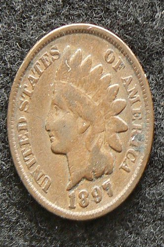 1897 P Indian Head Cent (VG-8)