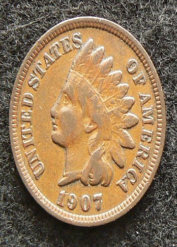 1907 P Indian Head Cent (F-12)