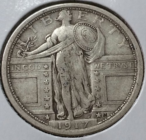 1917 Standing Liberty Quarter ~  Type 1 - VF