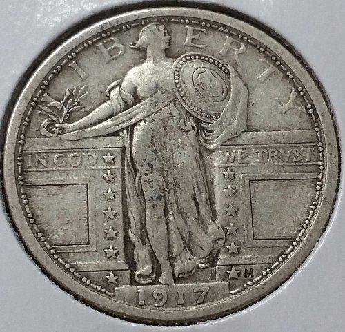 1917 Standing Liberty Quarter ~  Type 1 - VF