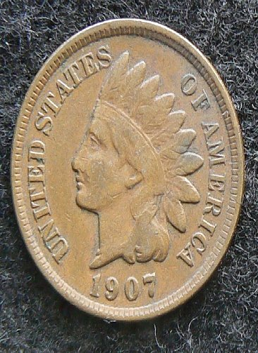 1907 P Indian Head Cent (VG-8)
