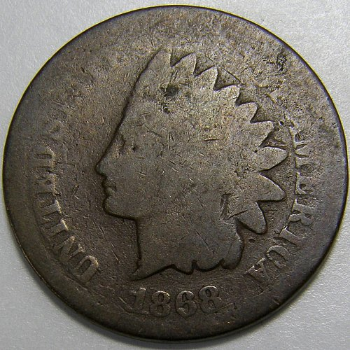 1868 Indian Head Cent #7