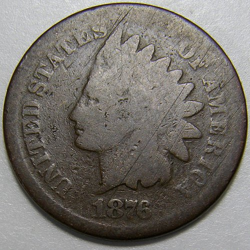 1876 Indian Head Cent #7