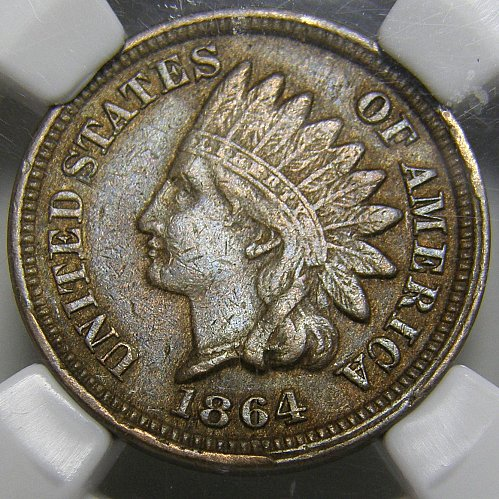 1864 CN Indian Head Cent #10