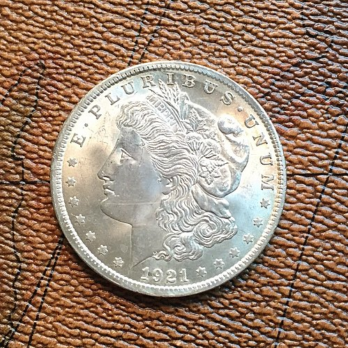 MS64 1921 P Morgan Silver Dollar