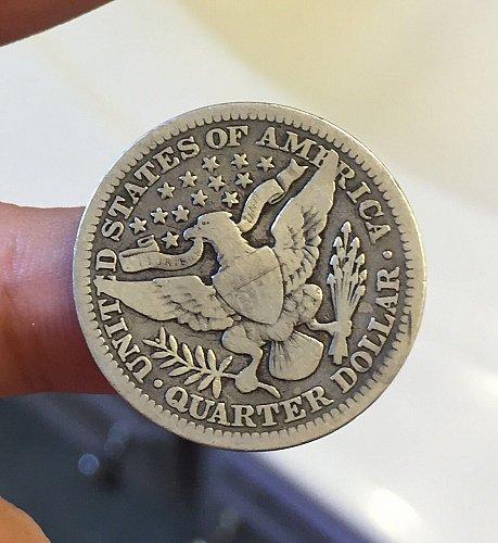 Semi-Key Date 1902 P Fine 12 Barber Quarter -Toned-