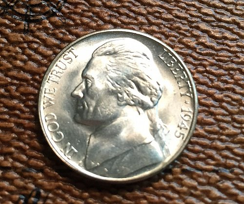 MS66 Gem 1945 S Silver War Nickel