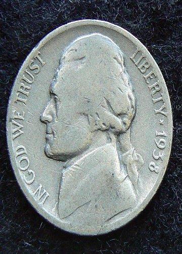 1938 P Jefferson Nickel (G-4)