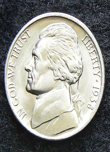 1938 D Jefferson Nickel (AU FS)