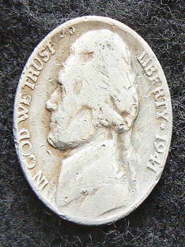 1941 P Jefferson Nickel (AG)
