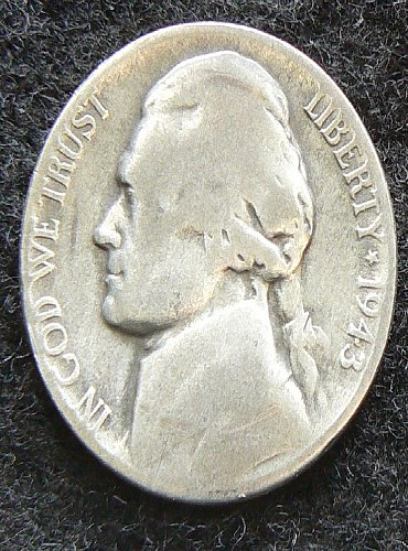 1943 S Jefferson Nickel (G-4)