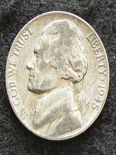 1945 P Jefferson Nickel (F-12)