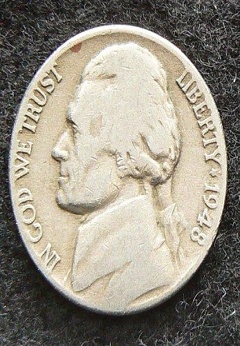 1948 P Jefferson Nickel (VG-8)
