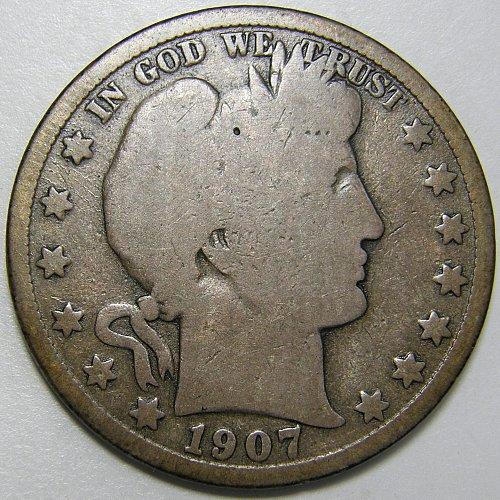 1907 O Barber Half Dollar #2