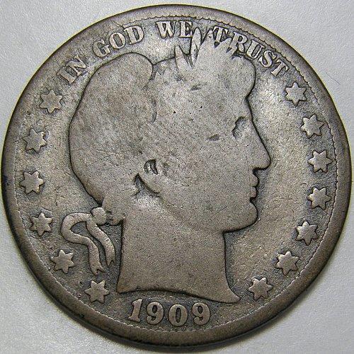 1909 O Barber Half Dollar