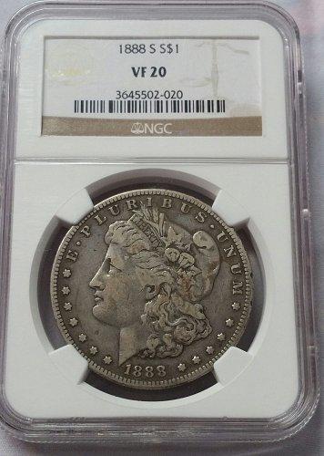 1888 S Morgan Dollar ~ NGC VF 20