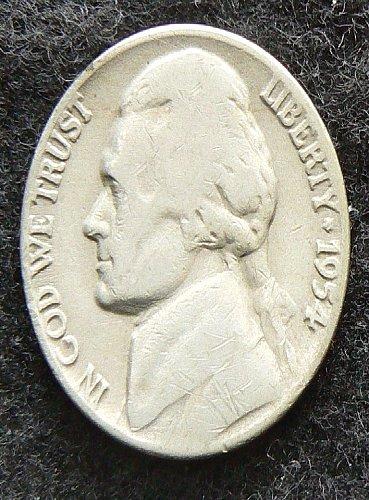 1954 D Jefferson Nickel (G-4)
