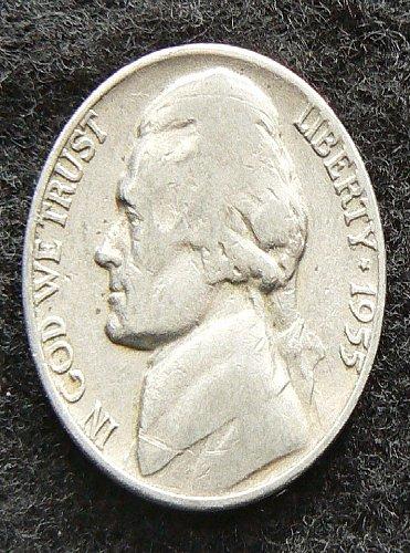 1955 D Jefferson Nickel (F-12)