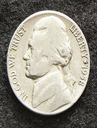 1958 D Jefferson Nickel (VG-8)