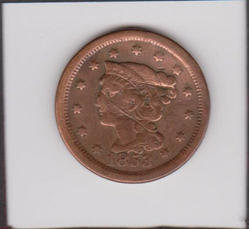 1853 Large Cent   Nice Date-Good Detail