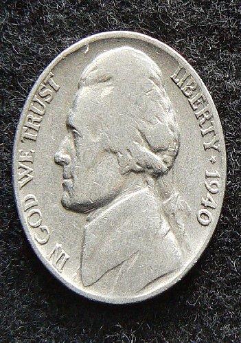 1940 P Jefferson Nickel (VG-8)