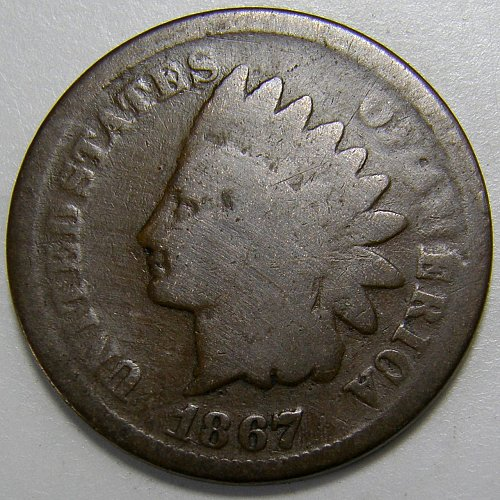 1867 Indian Head Cent #7