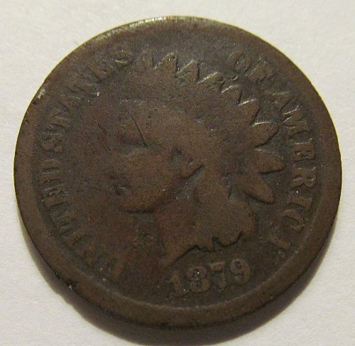 1879 Indian Head cent in good condition