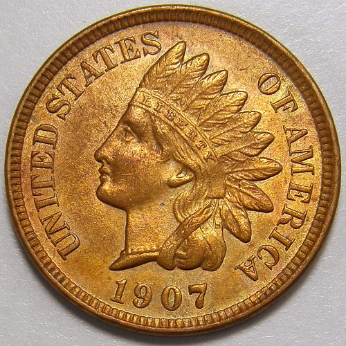 1907 Indian Head Cent #14