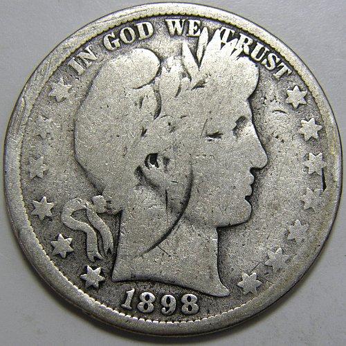 1898 P Barber Half Dollar