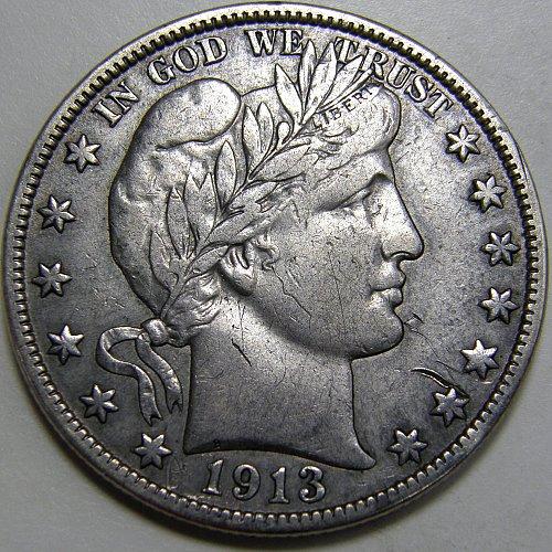1913 P Barber Half Dollar