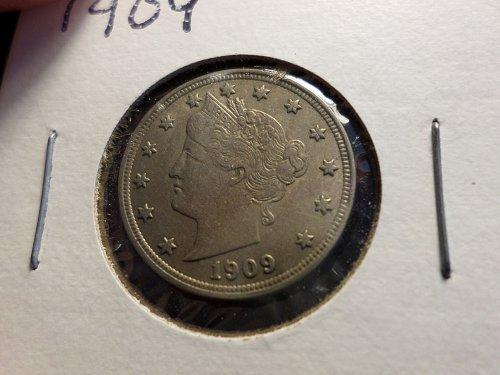 1909 P Liberty Nickels A1