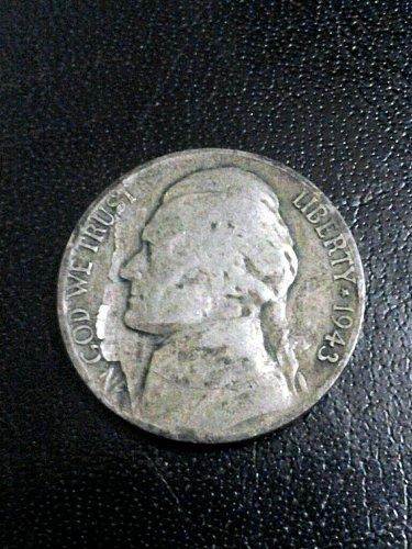 1943-P War Nickel Lamination Error Good Circulated Condition 35% Silver Free Shi