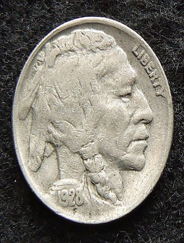 1928 P Buffalo Nickel (VG-8)