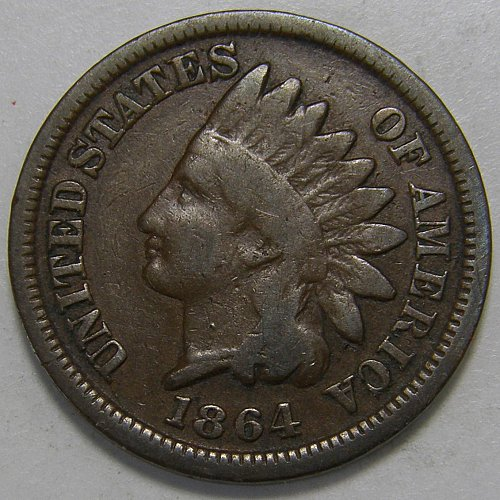 1864 P Indian Head Cent #10 Bronze