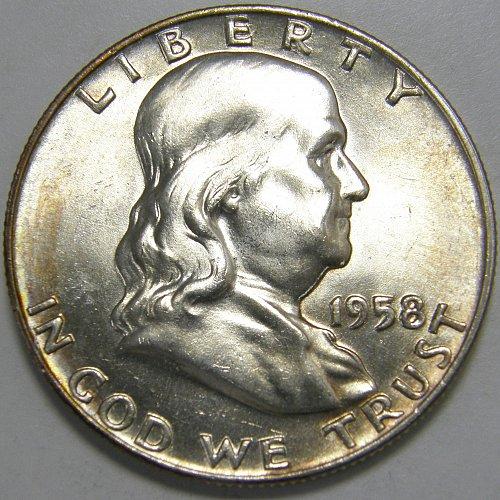 1958 D Franklin Half Dollar #2