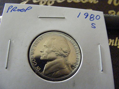 1980 S DC PROOF Jefferson Nickel GEM