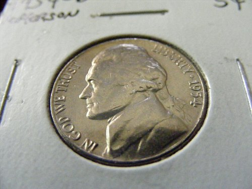 1954 D Jefferson Nickel FROM MINT ROLL