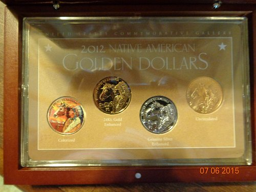 2012 NATIVE AMERICAN GOLDEN DOLLAR SET