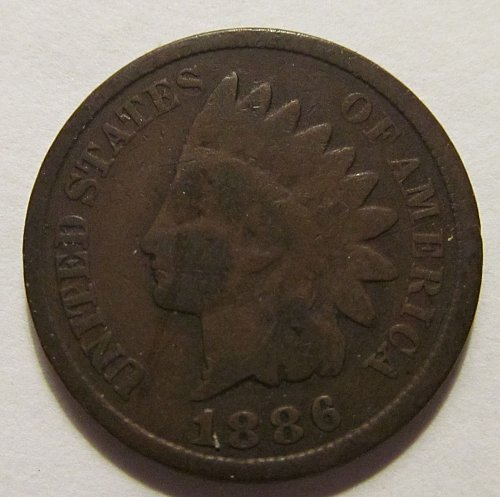 1886 Indian Head cent type II