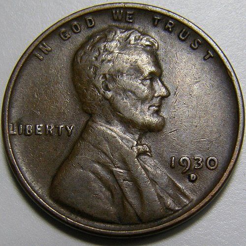1930 D Lincoln Wheat Cent #3