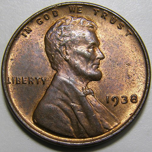 1938 P Lincoln Wheat Cent #3