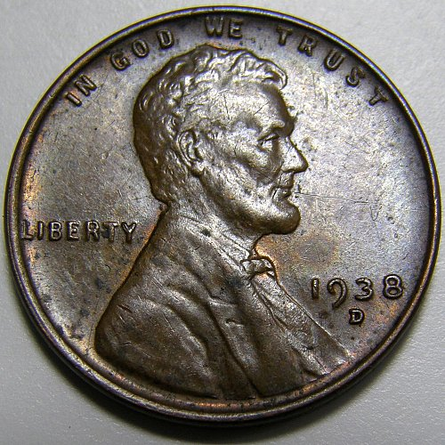 1938 D Lincoln Wheat Cent #5