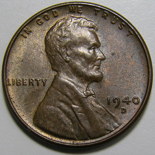 1940 D Lincoln Wheat Cent #2